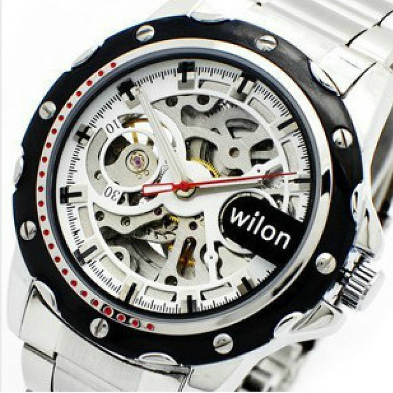 Wilon veyron authentic Automatic mechanical watch hollow out visual leisure men s watch business big dial
