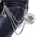 Pantalones de la cadena Del Punk hip-hop partido cinturón de cadena de metal, cadena de la cintura, calle boy pantalones cadena