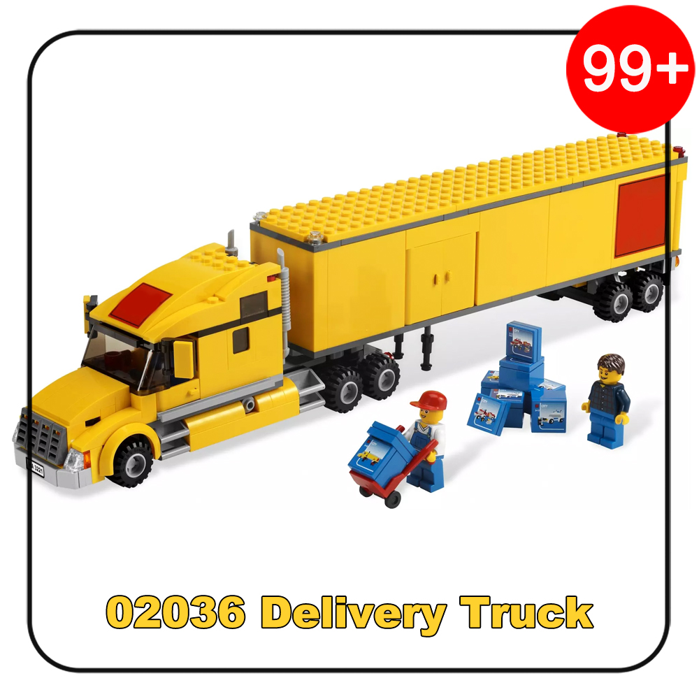 298Pcs 02036 My City Delivery Truck Set Model Building Blocks Toys for Children Girl Boy Compatible with Legoe City 3221