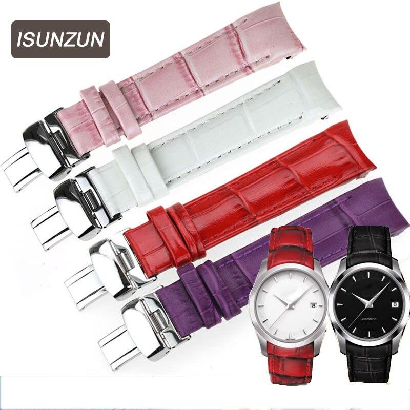 ISUNZUN femmes bracelet de montre pour Tissot T035210A T035207 montre bracelet en cuir véritable de haute qualité otan bracelet en cuir livraison gratuite