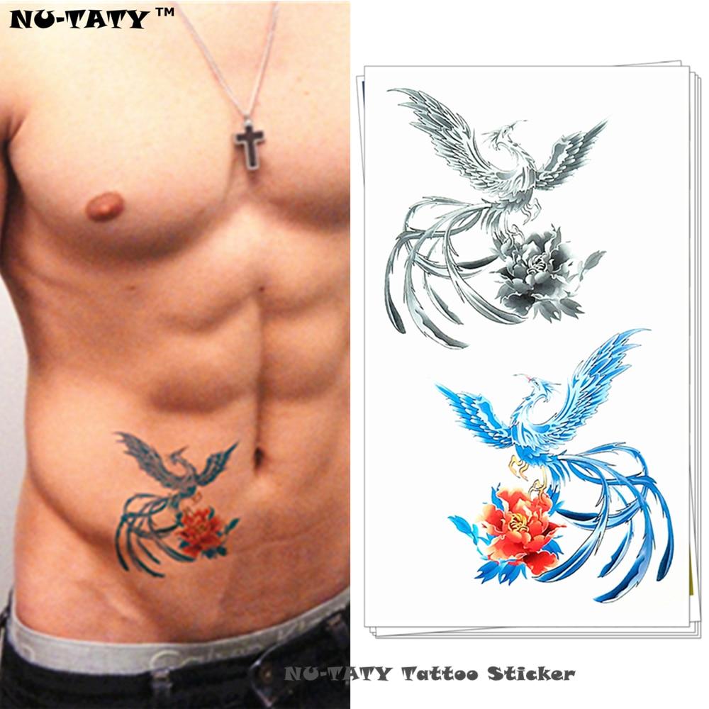 R29 5 De Descontonu Taty O Azul Cinza Gelo Phoenix Tatuagem Temporária Body Art Braço Flash Do Tatuagem Adesivos 1710 Cm à Prova D água Falso