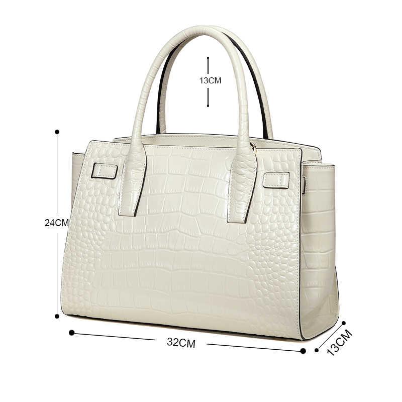 Qiwang брендовые Роскошные элегантные сумки с ручками сверху женские бежевые сумки-тоут трапеции 100% натуральная кожа белая летняя сумка с ремнем