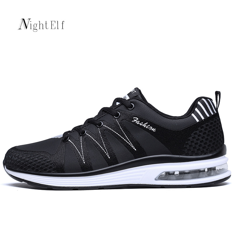 ФОТО Night Elf running shoes for men women sneakers breathable PU leather men sport shoes 2017 summer couples jogging trainers luxury