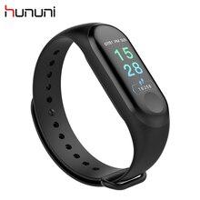 Hununi M3 группа плюс спортивный браслет Фитнес трекер reloj умный Браслет монитор 0,96 дюйма монитор сердечного ритма Smartband