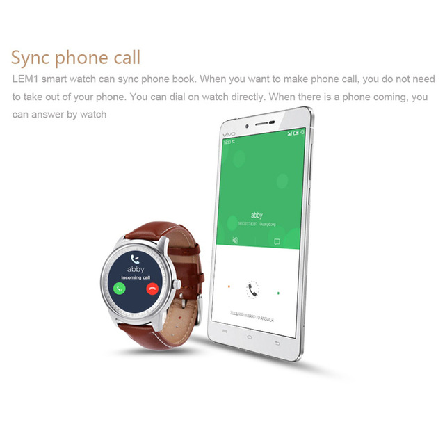 LEM1 Business Travel Smartwatch – Replaceable Leather Strap Business Style Smart Watche