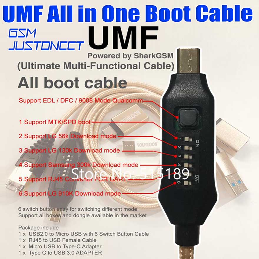 Umf /all in one Cable for edl /dfc for 9800 model For qualcomm/mtk/spd boot for lg 56k/910k(China)