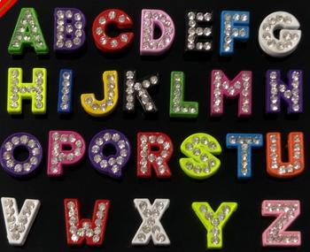 "wholesale 8mm 520pcs Colorful color rhinestone buton Full Rhinestones Slide Letters ""A-Z""Letters Choose Freely Fit  Belt Bra"