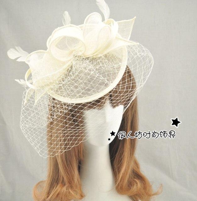 Multi-color Bridal Hats Sinamay Hats Flower Bow Fascinator Hats Wedding Hat Veils Hair Acessories Wedding Bridal Birdcage