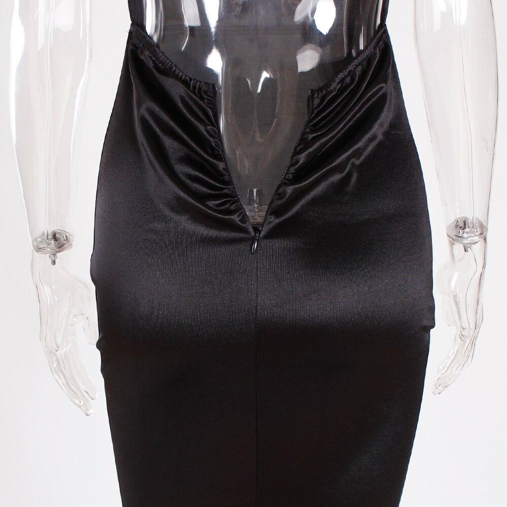 Deep V-Neck Burgundy Satin Mermaid Open Back Long Evening Dress 41