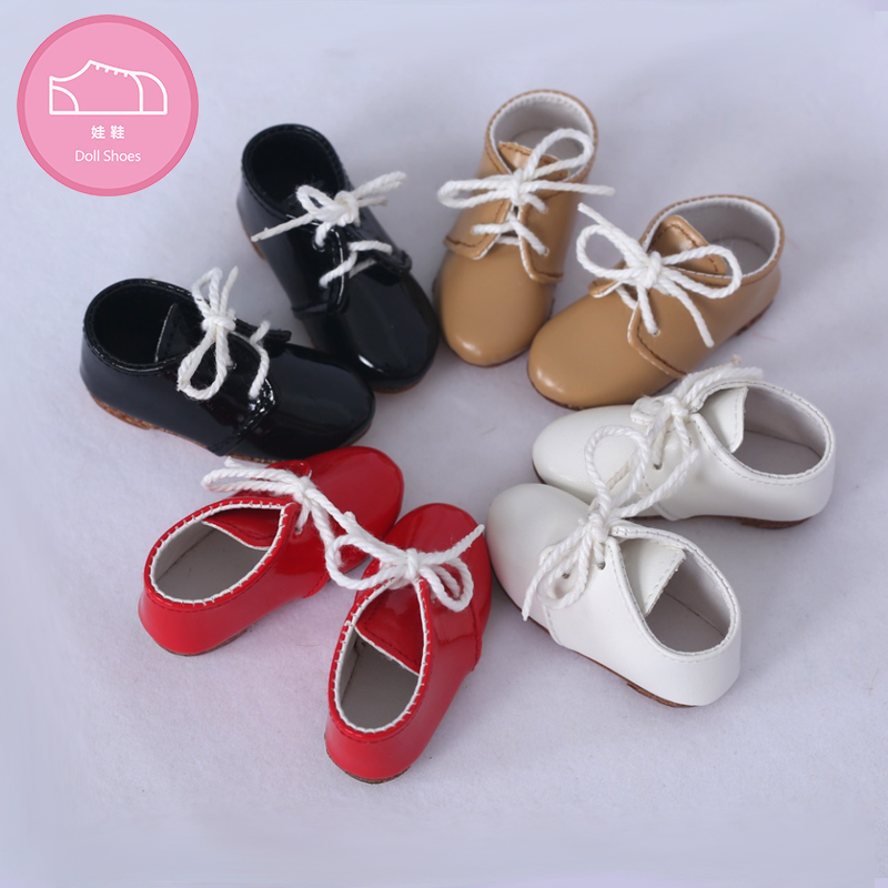 Shoes For BJD Doll 1 Pair 6cm PU Leather Fashion Mini Toy Lace Canvas Shoes 1/4 Doll For Fairyland Luts Doll Accessories  Luodol