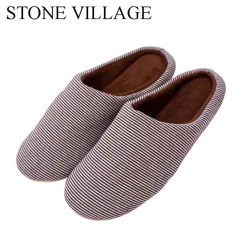 Silent Indoor Floor Shoes For Couples Winter Women Slippers Warm Cotton Home Slippers Men Comfortable Soft Flats Shoes Woman