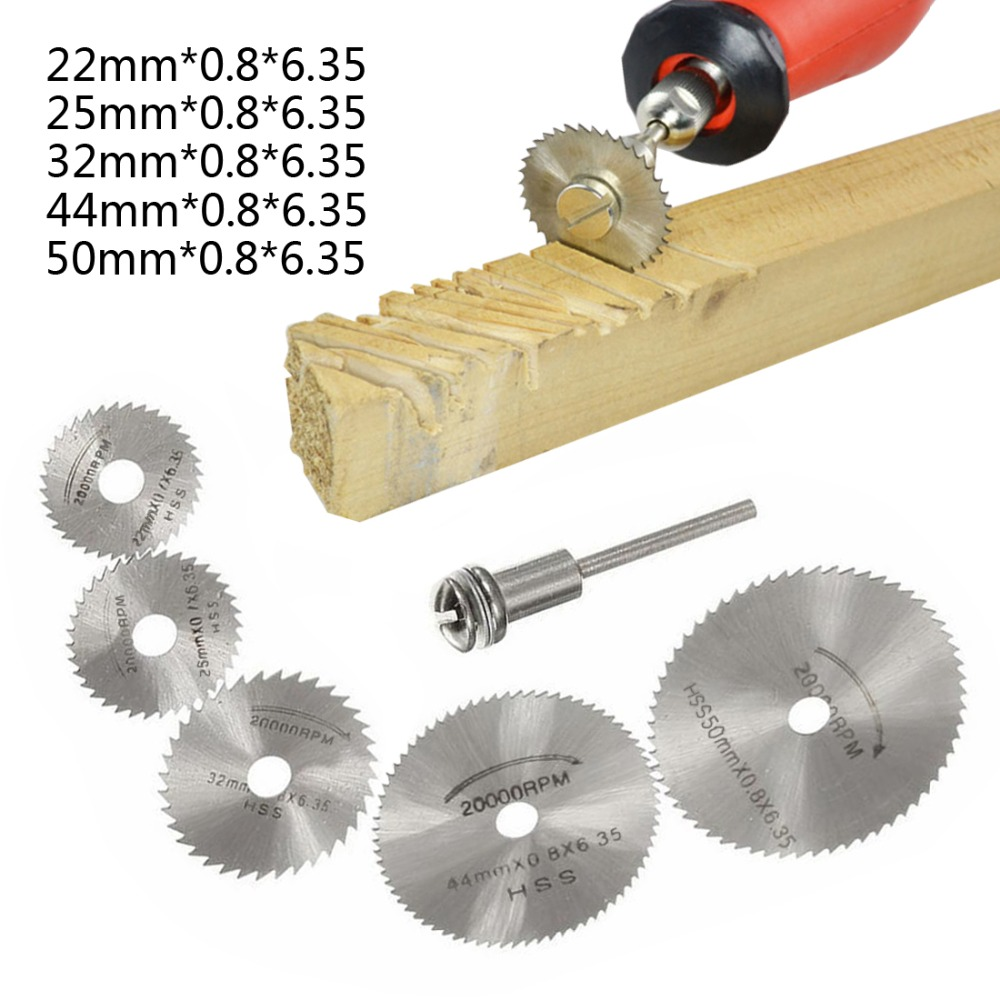 Mini HSS Hojas de Sierra circular Blade Jig Saw Rotary Tool For Dremel Metal Cutter Power Tool Set Wood Cutting Discs 6pcs mini hss saw circular saw blade rotary tools for dremel metal cutter jigsaw blade wood cutting discs drive for cutting wood
