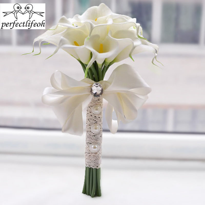 Yellow White Calla Bride Bridal Bouquet Wedding Wedding Outdoor Wedding Wedding Bride Bridesmaid Flower Салфетницы