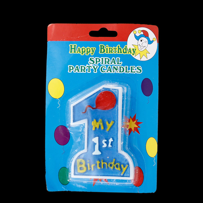 Blue Number 1 Birthday Cake Candle Baby Party Birthday ...