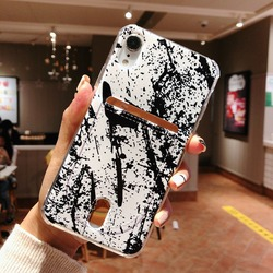 For Iphone 8 8plus X XR XS Max Marble Credit card case Iphone 6  Case for Iphone 7 7Plus Cover Soft TPU Silicone Phone case 5