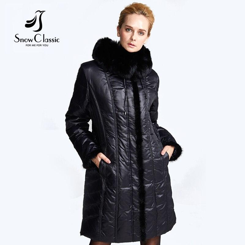 Down coat Real Fox Fur Collar parka winter jacket women 2017 Retro Plus Size 6xl women