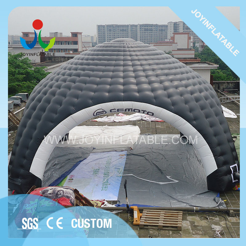 10X10M Gaint Inflatable Domes Car Tent for Camping,Black and White Inflatable Spider Tent with Waterproof 6