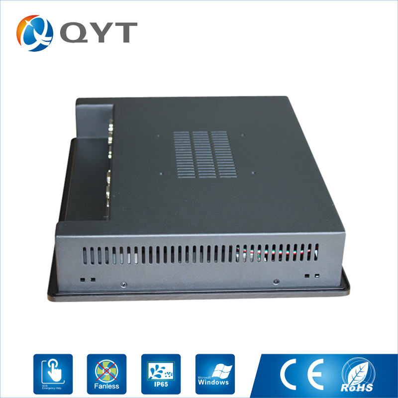 15 Embeded PC ip 65 Touch Screen Resolution 1024x768 panel pc/Industrial Computer with intel Celeron C1037U 1.8GHz LPT/5*RS232
