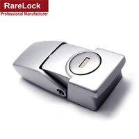 Lhx fechadura prateada BJA57-2  fechadura com fecho  para primavera de 32mm * 76mm  2 chaves  porta de deslizar  simples  armário de janela fechaduras cerradura