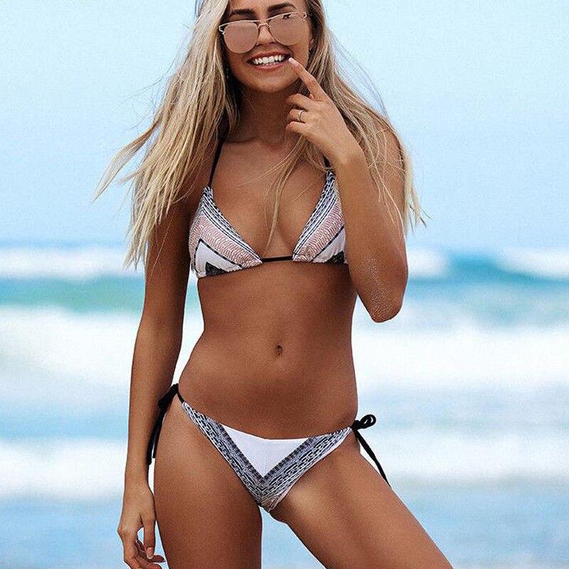 ITFABS New Women lady 2018 summer beach Swimwear Bikini Set Bandage Push-Up Padded strip Swimsuit Bathing suit Beachwear women