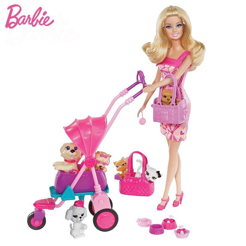 Barbie Adorable Pets Doll Set Barbie Accessories Girl