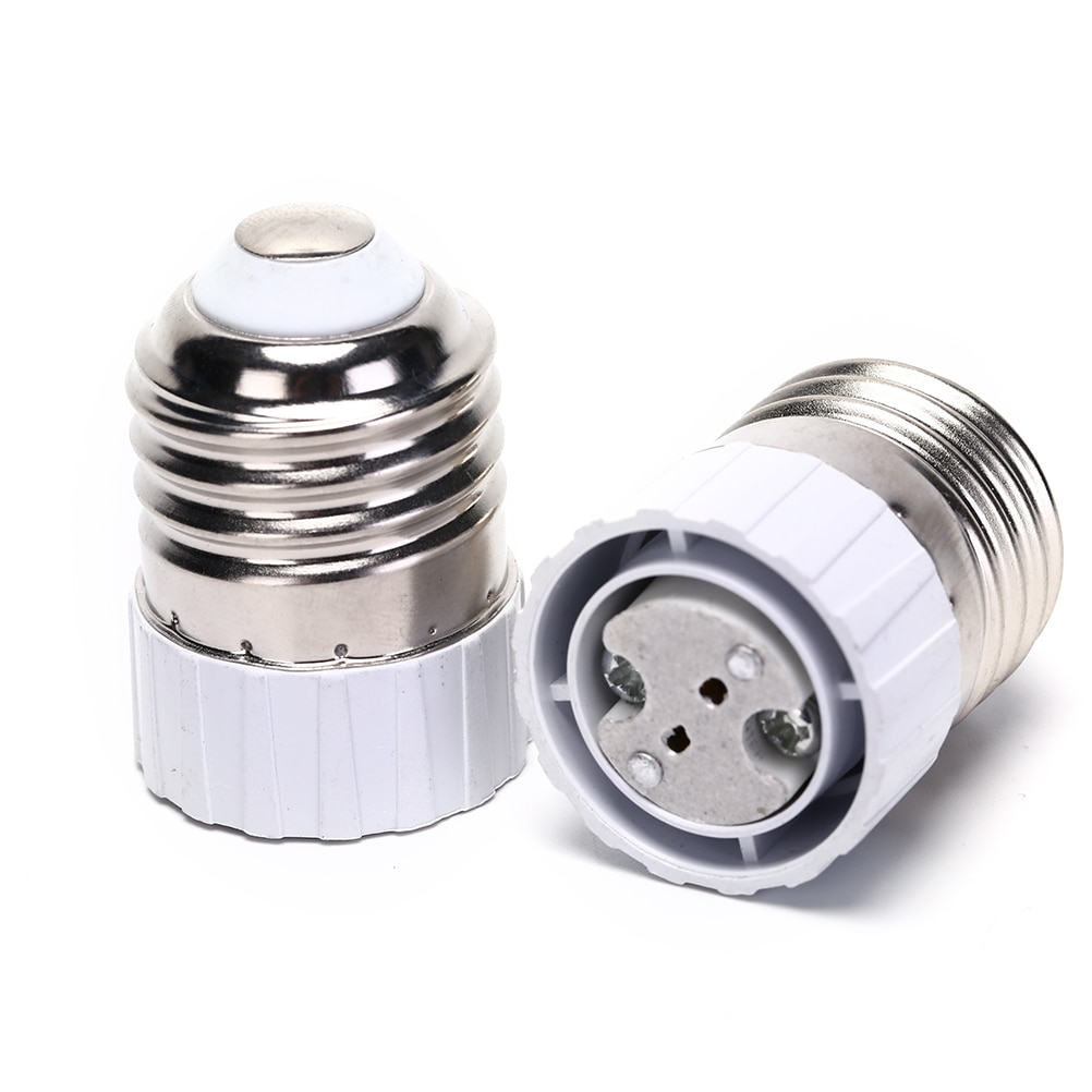 1X E27 To MR16 Base Converter E27 Lamp Holder Adapter Screw Socket E27 To GU5.3 G4 LED Bulb Parts Caremic LED Light Lamp Adapter