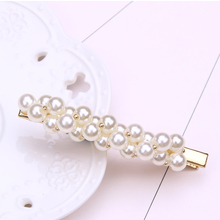 metal pearl hair clip barettes hairclips women accessories