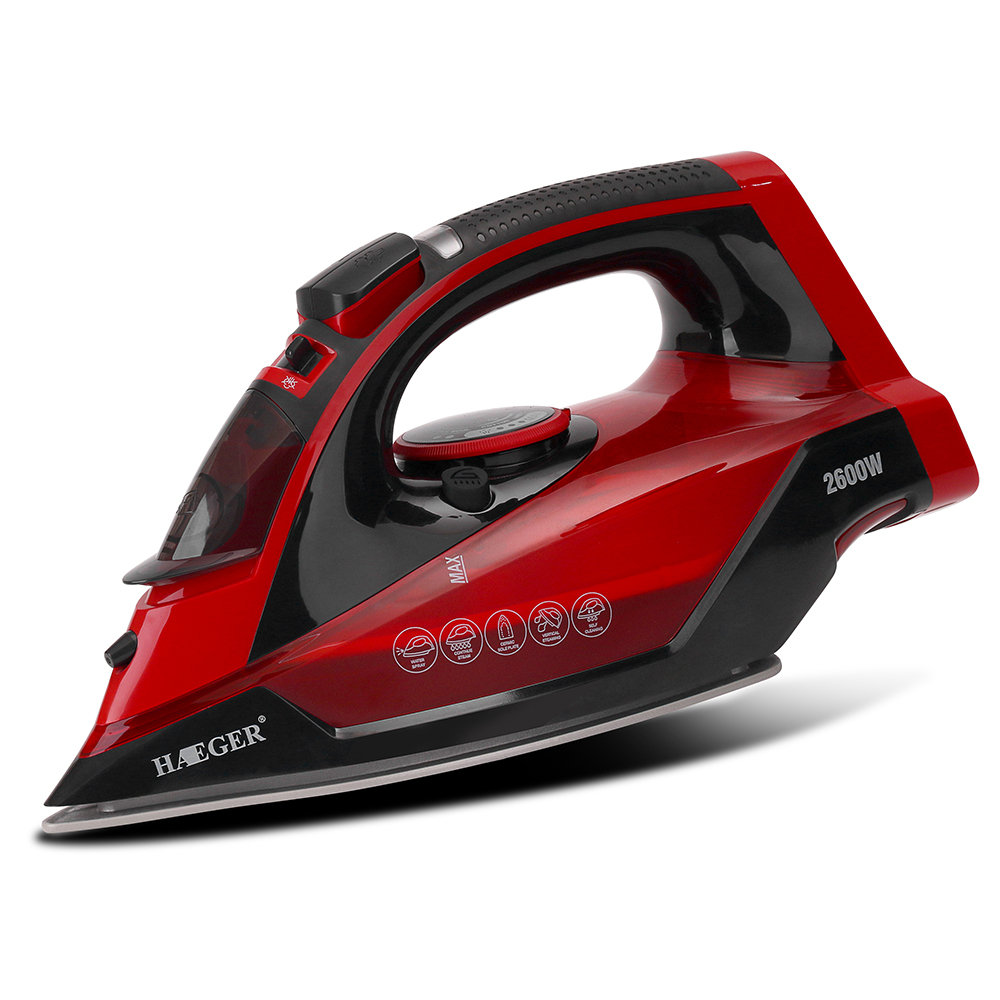 Image 3 - 2600W Cordless Wireless Charging Portable Steam Iron 5 Speed Adjust Clothes Ironing Steamer Portable Ceramic Soleplate EU Plug-in Electric Irons from Home Appliances
