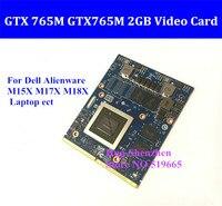 GTX 765 메터 GTX765M 2 기가바이트 비디오 카드 MXM SLI 델 에일리언웨어 M15X는 M17X M18X 노트북 GTX 765 GTX765 그래픽 카드 N14E-GE-B-A1