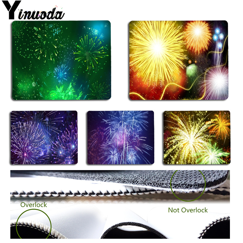 Yinuoda Non Slip PC Colorful Fireworks Customized laptop Gaming mouse pad Size for 180x220x2mm and 250x290x2mm Rubber Mousemats
