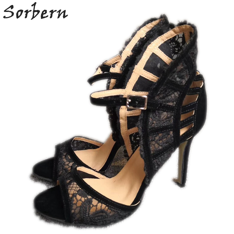 Sorbern Elegant Lace Women Sandals Custom Multi Colors Ladies Sandals 6 Open Toe Summer Style Shoes For Women StilettosSorbern Elegant Lace Women Sandals Custom Multi Colors Ladies Sandals 6 Open Toe Summer Style Shoes For Women Stilettos