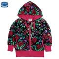 Nova ropa de los niños niñas chaquetas de invierno estrellas allover de dibujos animados venta caliente chaquetas abrigos chaquetas de ropa de bebé niños de la manera