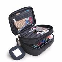 Women Cosmetic Bags Makeup travel organizer portable kosmetyczka case double waterproof maquillaje storage make up toiletry bag