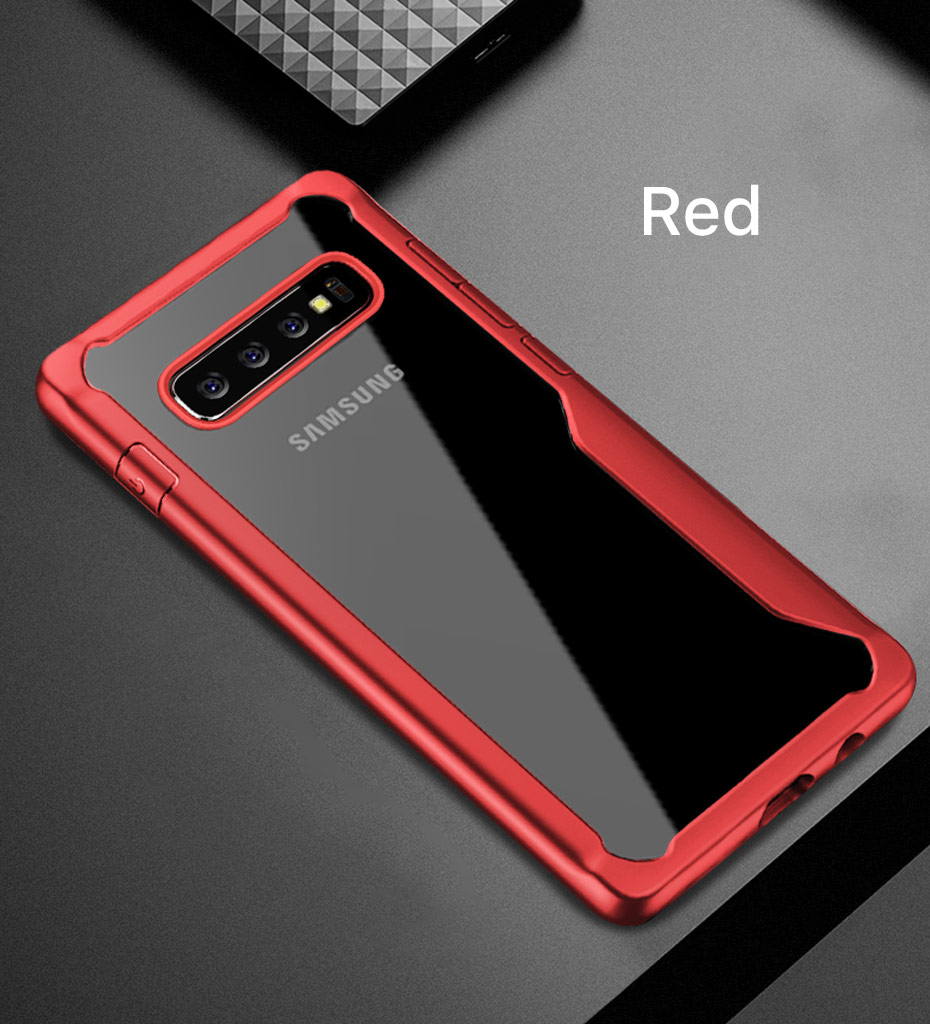 LUPHIE Shockproof Case For Samsung Galaxy S10 Plus Transparent Case (12)