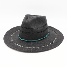 Summer beach vacation UV protection sun shade hat Western cowboy straw hat