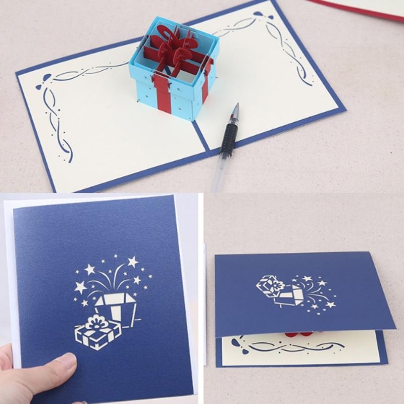 Gift Box Wedding Invitations: Gift Box Greeting Cards Handmade Birthday Wedding