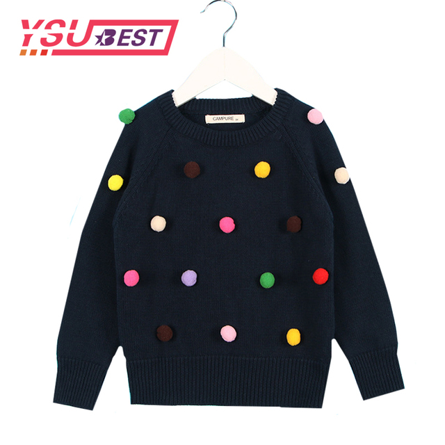 5df609620 New Autumn Winter Knitwear Baby Toddler Girls Boys Fashion Pom Pom ...