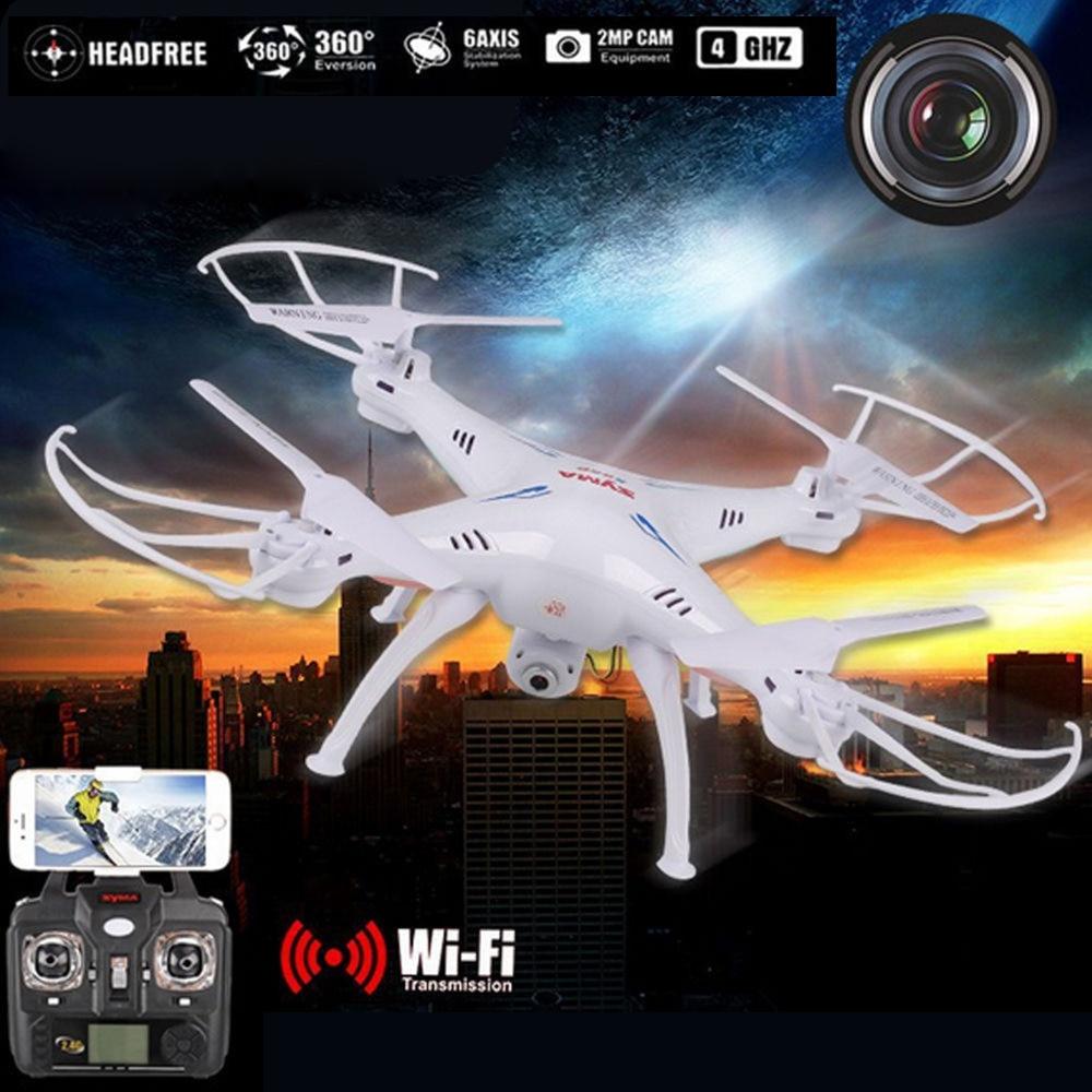 Original WIFI FPV temps réel 2.4G 6 axes Syma X5 X5SW RC Drone hélicoptère quadrirotor avec caméra HD batterie supplémentaire livraison gratuite
