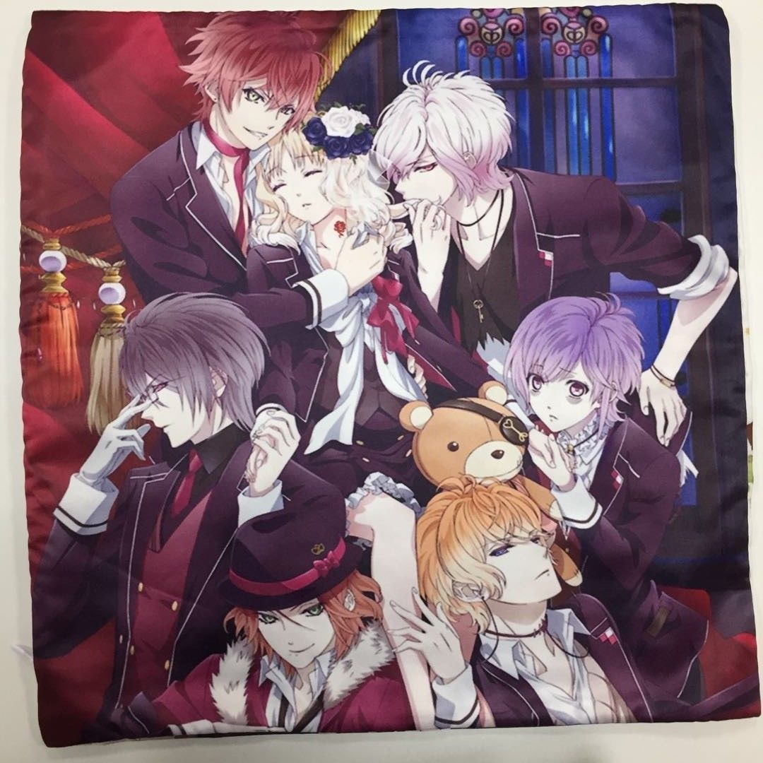 Diabolik lovers anime manga two side pillowcases hugging pillow cushion case cover otaku cosplay gift new 202 in anime costumes from novelty special use