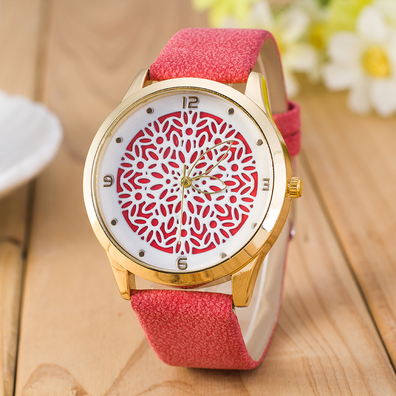 Hot selling leather watch women fashion hollow pattern leaf shape pointer quartz watch high quality women watches new price drop price drop hot selling casual leather watch women and men high quality simple quartz watch 2016 new student watch factory direct