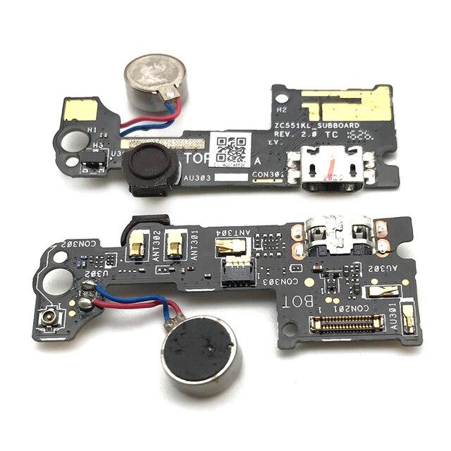 オリジナル Asus Zenfone 5 3 レーザー ZC551KL マイク USB 充電ドックポート Contector フレックスケーブル