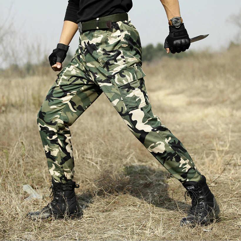 """מדי צבא הסוואה מכנסיים טקטי Combat מרובה צפצף גברים CS ציד בגדי מדים טחונים ארה""""ב צבא מכנסי Mens"""