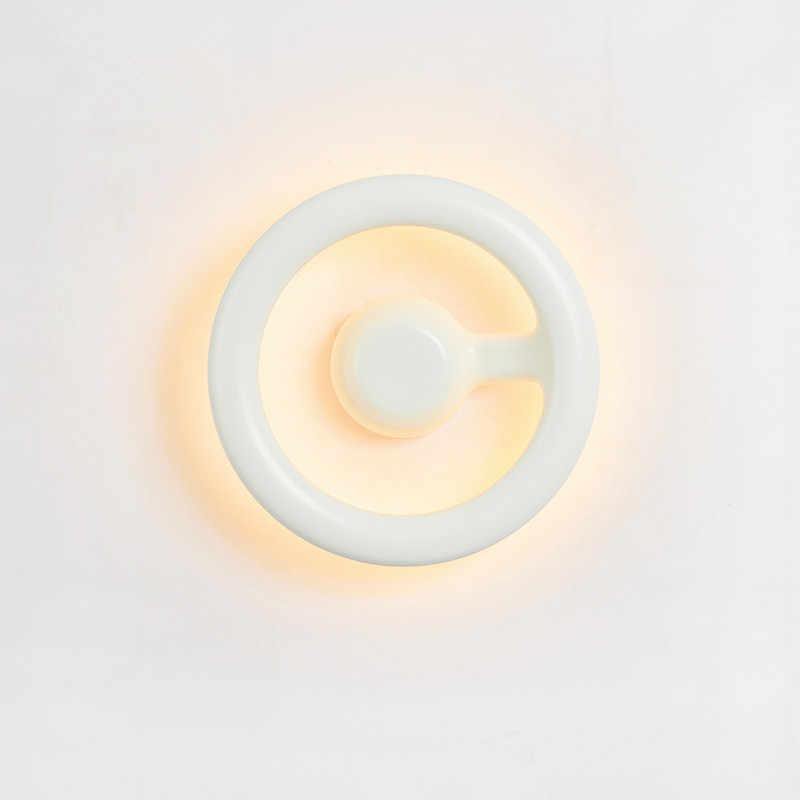 Креативный стиль, украшение, светодиодная настенная лампа, теплый свет для гостиной, спальни, спальни, настенное освещение, черный, белый цвет, EMS