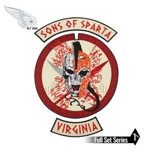 SONS OF SPARTA Iron On Patches SPARTA Big Size for Full Back of Jacket Rider Biker Patch Free Shipping gargoyles fallston n g mc iron on sew on patch big size for full back of jacket rider biker embroidery patch free shipping
