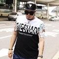 Comodidad camiseta 2016 camiseta homme xxL-7XL corto manga de la camiseta de LA CADERA HOP de impresión más tamaño 7xl 6xl 5xl 4XL 3XL XXL tops de algodón