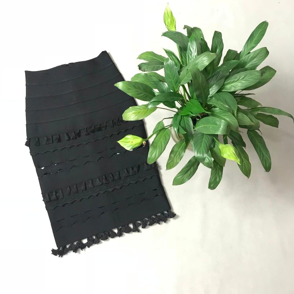 Una 2018 Negro Falda Diseñador Faldas Verano Negro Estilo Rosa Vendaje Calidad rosado Sexy Línea Alta vw4H8H