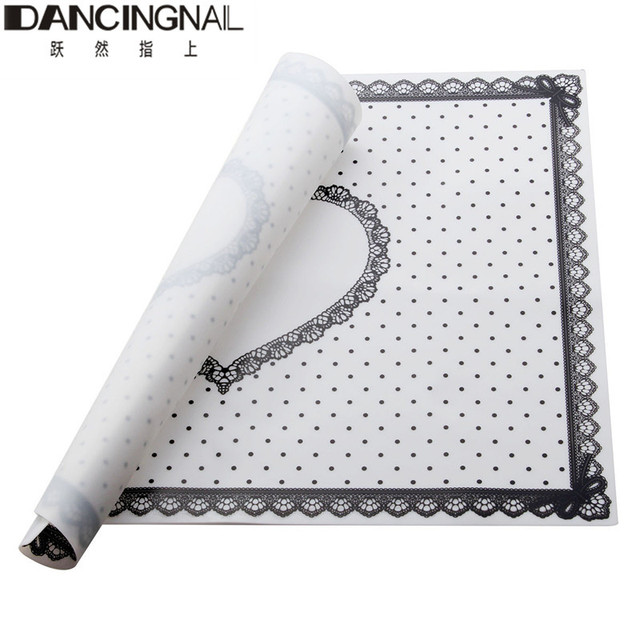 New Pro Silicone Nail Art Hand Rest Table Mat Lace Dot Pattern ...