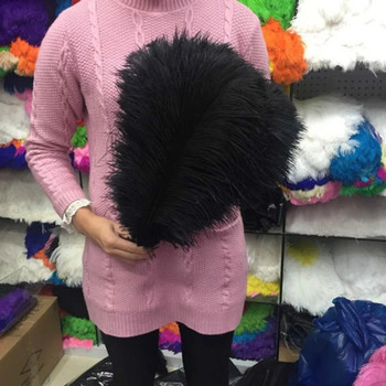 50pcs/lot black ostrich feather 35-40 CM 14-16 inche plume performance headwear clothing festival wedding decoration feathers