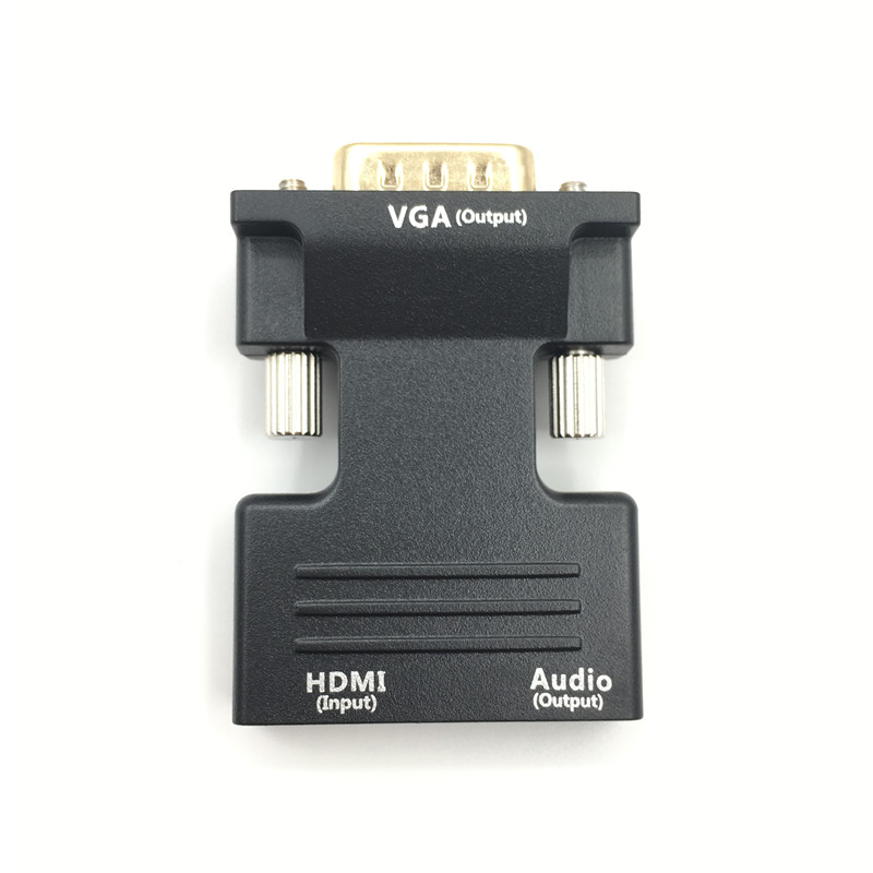 1080P HDMI to VGA Adapter Male to Female Digital To Analog Audio Video Converter Cable for PC Laptop TV Box Projector