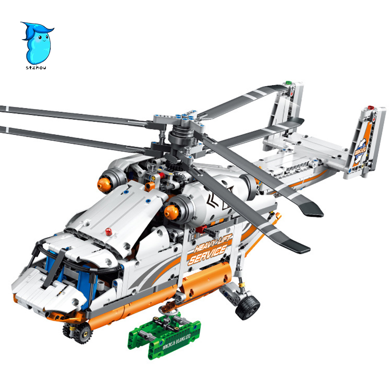 StZhou 38008 1042Pcs mechanical group high load helicopter Model Bricks Building Blocks Toy For Children group search optimizer for economic load dispatch